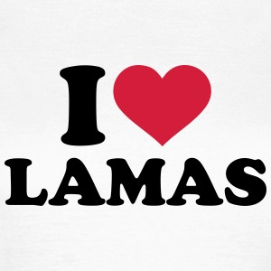 I love Lamas T-Shirts - Frauen T-Shirt