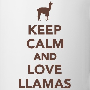 Keep calm and love llamas Tassen & Zubehör - Tasse