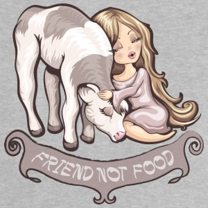 Heather grey friend not food Baby Shirts  - Baby T-Shirt