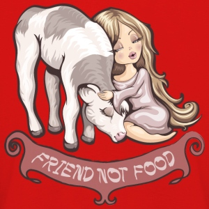 Red friend not food Long Sleeve Shirts - Kids' Premium Longsleeve Shirt