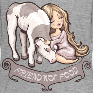 Grau meliert Friend not food Langarmshirts - Teenager Premium Langarmshirt