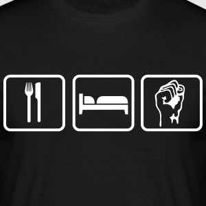 Eat Sleep Revolution T-shirts - Mannen T-shirt