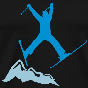 ski jump / ski jumper mountains T-shirts - Herre premium T-shirt