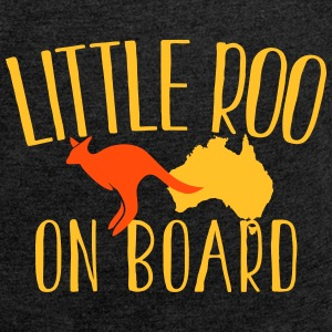 Little Roo on Board (Australian Aussie kangaroo) T-Shirts - Women's T-shirt with rolled up sleeves