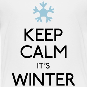 Keep Calm Winter T-Shirts - Kinder Premium T-Shirt