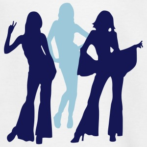 70s and 80s woman and girls iii Camisetas - Camiseta adolescente