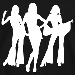 70s and 80s woman and girls i T-shirts - Mannen Premium T-shirt