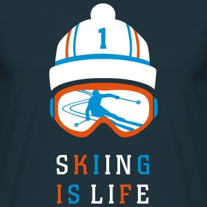 SKIING IS LIFE T-Shirts - Männer T-Shirt