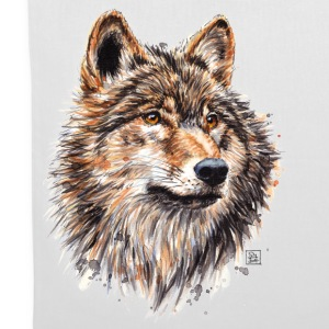 White Wolf Painting Bags & Backpacks - Tote Bag