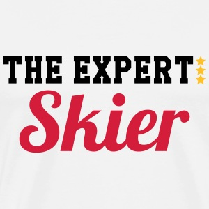 The Expert : Skier T-Shirts - Men's Premium T-Shirt