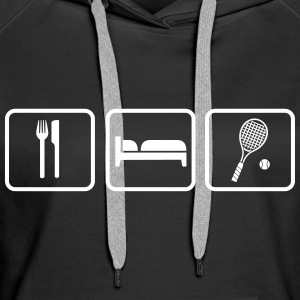 Eat Sleep Tennis Sweat-shirts - Sweat-shirt à capuche Premium pour femmes