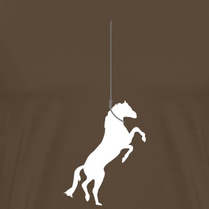Horse on the rope T-Shirts - Men's Premium T-Shirt