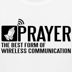 Prayer - the best wireless communication Tank Tops - Männer Premium Tank Top