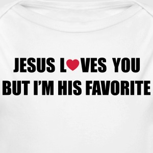 Jesus loves you but I'm his favorite Sudaderas - Body orgánico de manga larga para bebé