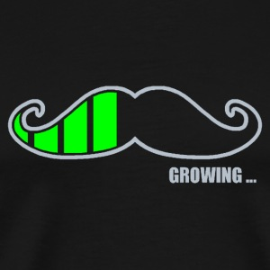 Moustache Growing T-Shirts - Men's Premium T-Shirt
