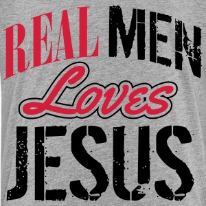 Real men loves Jesus Tee shirts - T-shirt Premium Ado