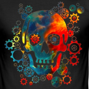 Skull, Space Pirate, Galaxy, Cosmos, Universe T-Sh - Männer Slim Fit T-Shirt