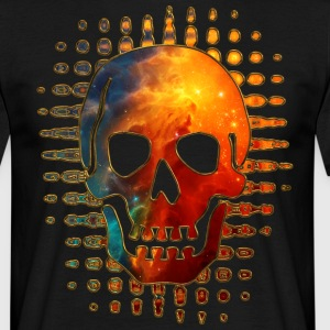 Skull, Space, Galaxy, Cosmos, Nebula, Star T-shirts - Herre-T-shirt