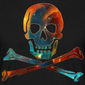 Skull, Crossbones, Space Pirate, Galaxy, Cosmos, Nebula, Star T-shirts - Herre-T-shirt