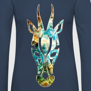Antelope, Africa Space, cosmos, galaxy, outerspace Manches longues - T-shirt manches longues Premium Femme