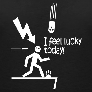 i feel lucky today i / bad luck T-shirts - T-shirt med v-ringning dam