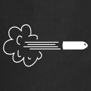 cloud with bullet / speeding bullet Delantales - Delantal de cocina