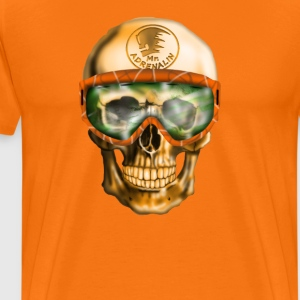Skull with Goggles T-Shirts - Men's Premium T-Shirt