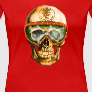 Skull with Goggles T-Shirts - Women's Premium T-Shirt