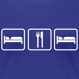 Sleep Eat Sleep, Schlafen Essen Schlafen T-Shirts - Women's Premium T-Shirt