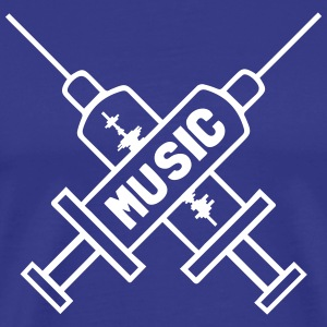 Music Is My Drug - Love Music - Straight Edge T-shirts - Mannen Premium T-shirt