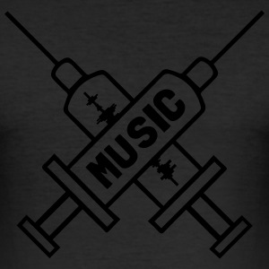 Music Is My Drug - Love Music - Straight Edge  Tee shirts - Tee shirt près du corps Homme