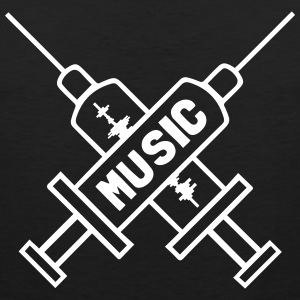 Music Is My Drug - Love Music - Straight Edge  Débardeurs - Débardeur Premium Homme