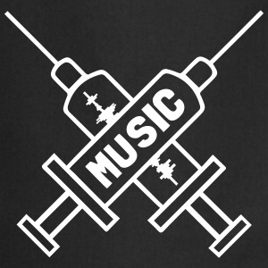 Music Is My Drug - Love Music - Straight Edge Forklæder - Forklæde