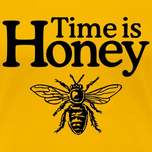 Time is Honey Imker T-Shirt (Damen/Gelb) - Frauen Premium T-Shirt