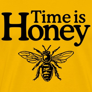 Time is Honey Imker T-Shirt (Herren/Gelb) - Männer Premium T-Shirt