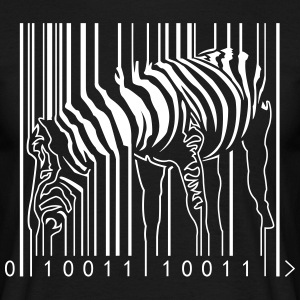 Mens T-shirt Blk Zebra Barcode - Men's T-Shirt