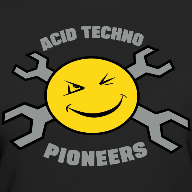 "Acid Techno Pioneers Collection  Organic Tshirt ""EarthPositive Silver"