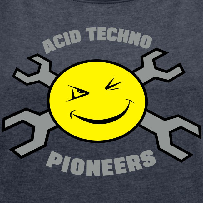 Acid Techno Pioneers Women's T-shirt with rolled up sleeves