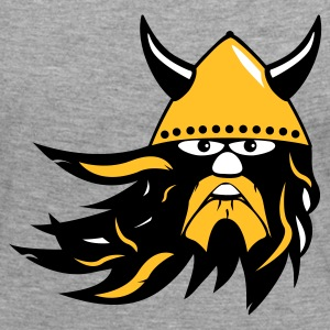 viking warrior with beard and helmet Långärmade T-shirts - Långärmad premium-T-shirt dam