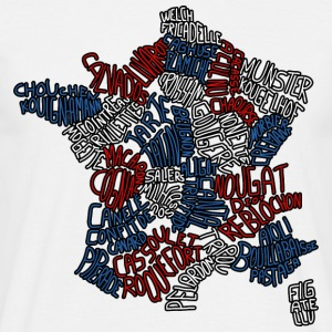 White Map of France T-Shirts - Men's T-Shirt