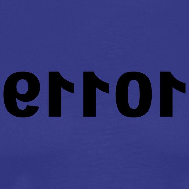 Basic-Shirt Männer blue ERROR