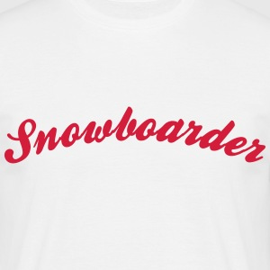 Snowboarder Cool Curved Logo - T-shirt Homme