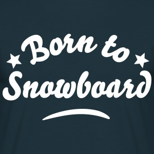 Born to Snowboard Stars - T-shirt Homme