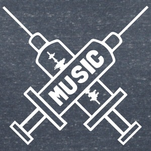 Music Is My Drug - Love Music - Straight Edge T-shirts - T-shirt med v-ringning dam