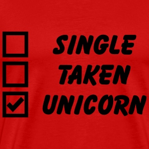 Single, Taken, Unicorn Tee shirts - T-shirt Premium Homme