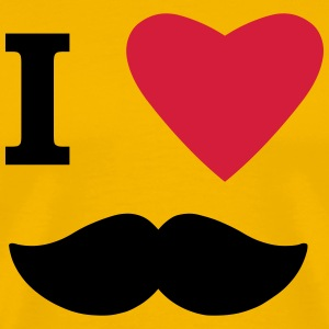 I Love Moustaches T-Shirts - Men's Premium T-Shirt