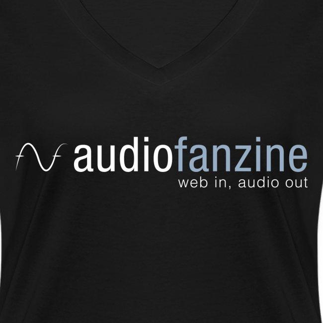T-shirt femme col en V logo AF noir