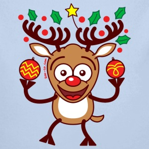 Cool Reindeer Decorating for Christmas Hoodies - Baby One-piece
