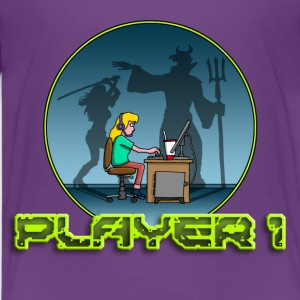 gamer_girl_102014_d_devil T-Shirts - Teenager Premium T-Shirt