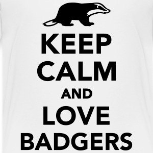 Keep calm and love badgers T-Shirts - Kinder Premium T-Shirt